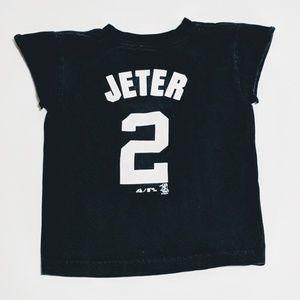 Girls 4t Yankees Derek Jeter t shirt rhinestone NY